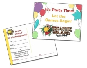 Treasure Island Fun Center Invitation